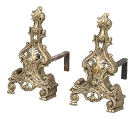 Image of Bronze Andirons and Chenets