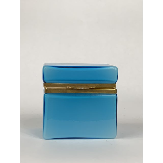 Early 20th Century Turquoise Murano Casket Box For Sale - Image 9 of 9