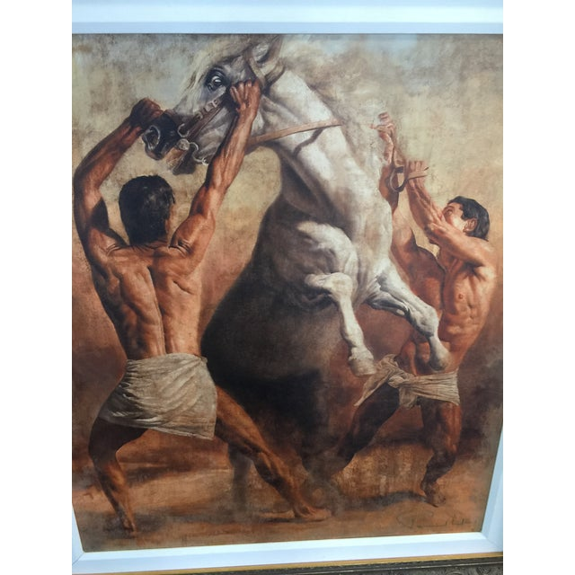 Amazing Giclee, print on canvas, signed by artist, Tomasz Rut, Versace had an original one of these in Florida. Not a...