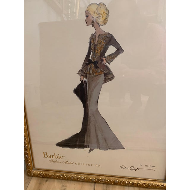 Contemporary Barbie Fashion Model Collectible Prints - Set of 4 For Sale - Image 3 of 13