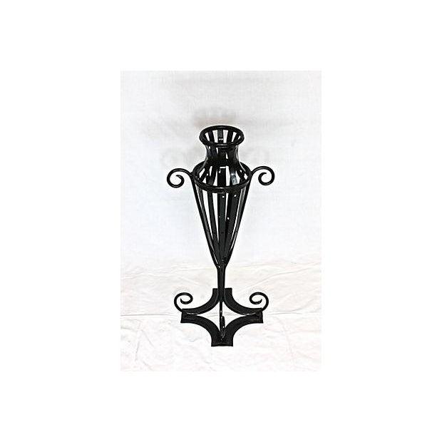 Wrought Iron Garden Urn - Image 3 of 7