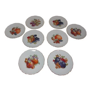 1950s Assorted Bavarian Fruit Plates - Set of 8 For Sale