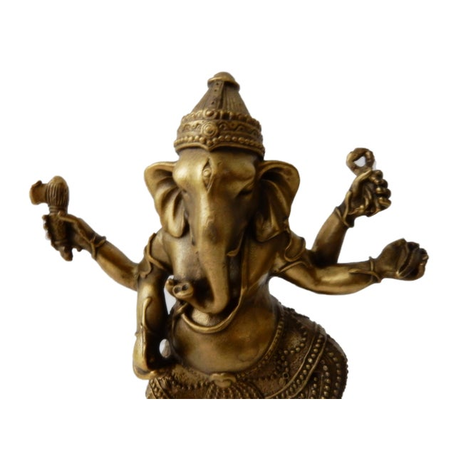 Asian Bronze Lord Ganesh Sculpture For Sale - Image 3 of 7
