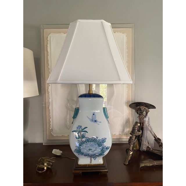 Asian Ceramic Table Lamp For Sale In Portland, OR - Image 6 of 6