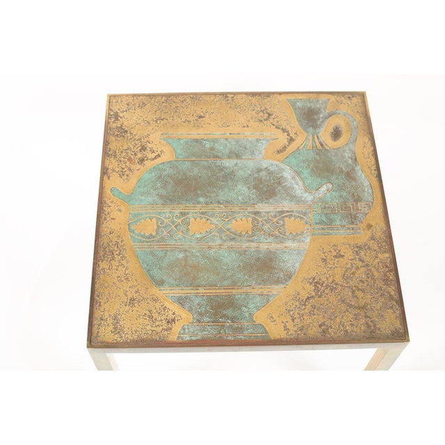 Mid 20th Century Bronze Harvey Probber Cocktail Table For Sale - Image 5 of 8