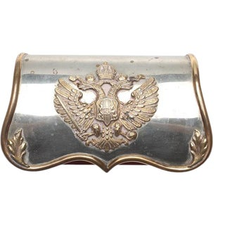 19th Century Imperial Box With Silver Imperial Emblem For Sale