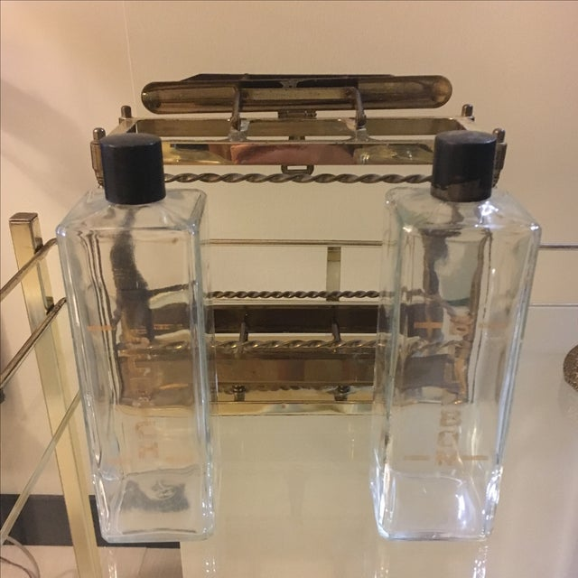 Brass Bar Scotch & Bourbon Decanter Set - Image 6 of 6