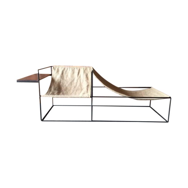 Modern Wrought Iron Chair Lounger - Image 2 of 6