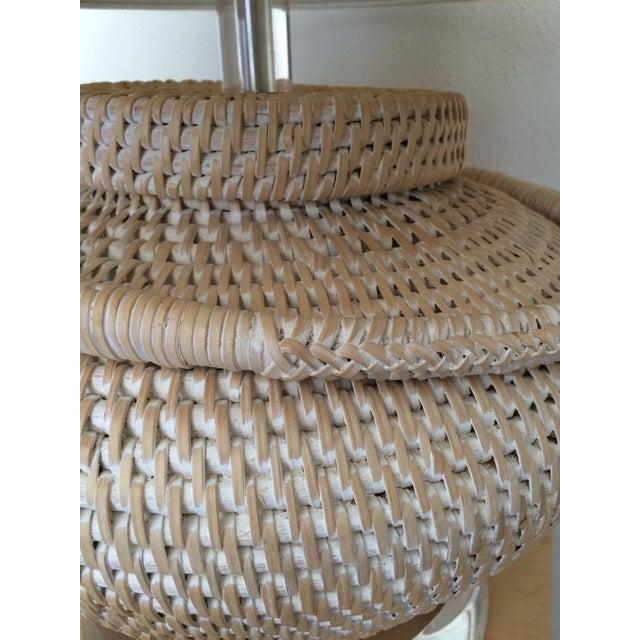 Richard Lindley Rattan Basket Lamp - Image 8 of 9