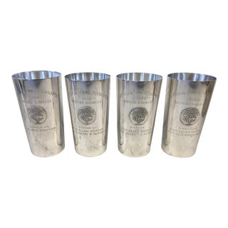1930's Country Club Tennis Trophy Silver Julep Cups - Set of 4 For Sale