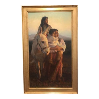 1970s Vintage Tom Darro Evening Ritual Oil on Canvas Painting For Sale