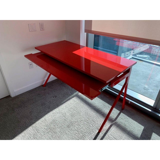 Contemporary Blu Dot Red Computer Desk For Sale - Image 9 of 10