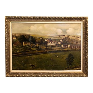 19th Century Framed Oil Painting on Canvas by Alfred Bastin (1849-1913) For Sale