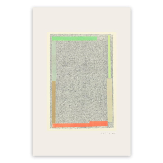 "Elizabeth Gourlay Elizabeth Gourlay ""Note D"", Print For Sale - Image 4 of 4"