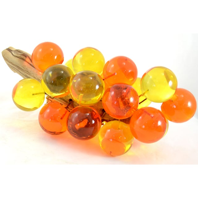 1960s Orange & Yellow Lucite Grapes - Image 4 of 7