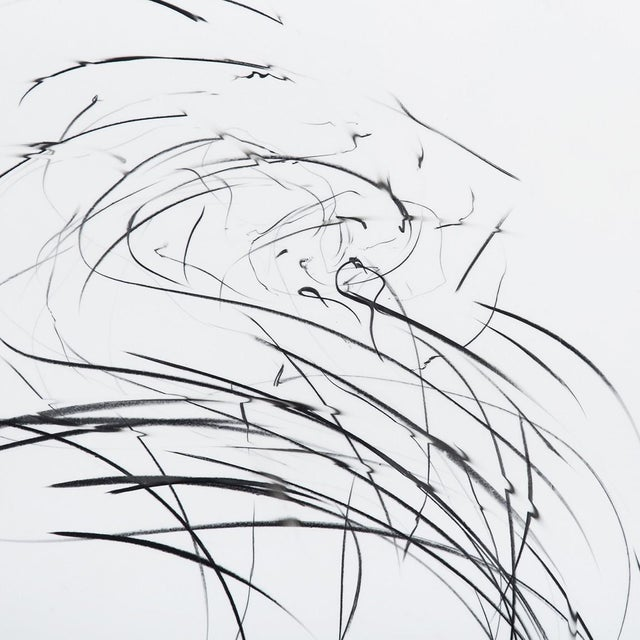 """Abstract Jaanika Peerna """"Storm Series (Ref 845)"""", Drawing For Sale - Image 3 of 4"""