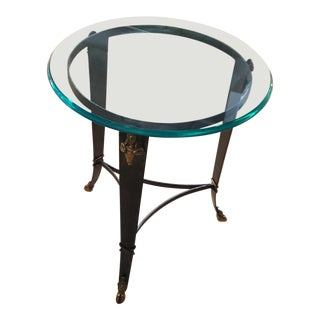 Maitland-Smith Glass Top Occasional Table For Sale
