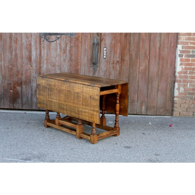 Wood Spanish Colonial Folding Gateleg Table For Sale - Image 7 of 12
