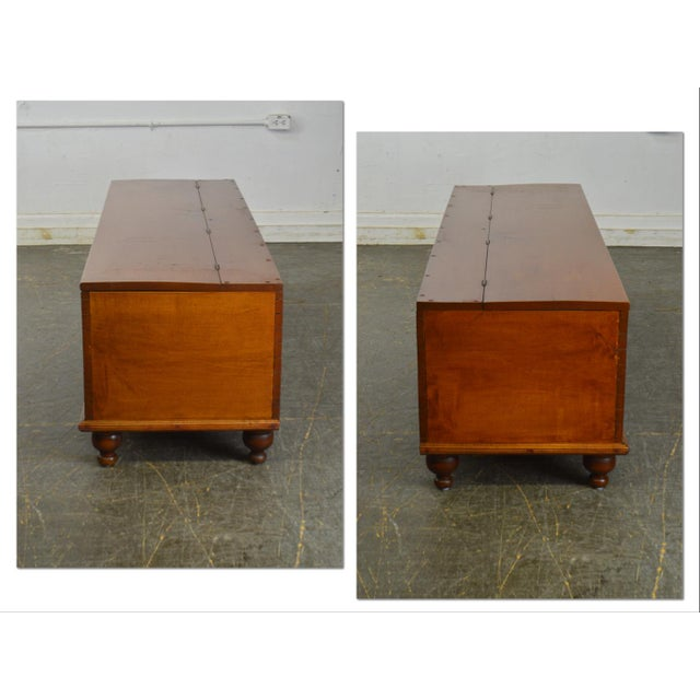 *STORE ITEM #: 18466-fwmr Country Antique 19th Century Poplar Dovetailed Lidded Chest Wood Box AGE / ORIGIN: 1840's,...