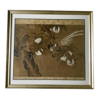 19th Century Antique Chinese Watercolor on Silk Painting For Sale