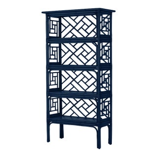 Chippendale Etagere - Navy Blue For Sale
