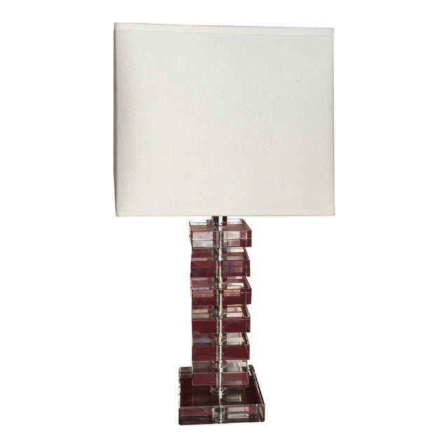 Robert abbey vintage stacked crystal table lamp chairish robert abbey vintage stacked crystal table lamp image 2 of 10 aloadofball Choice Image