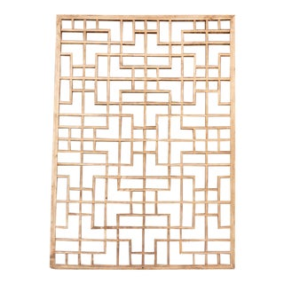 Antique Chinese Fretwork Trellis Window For Sale