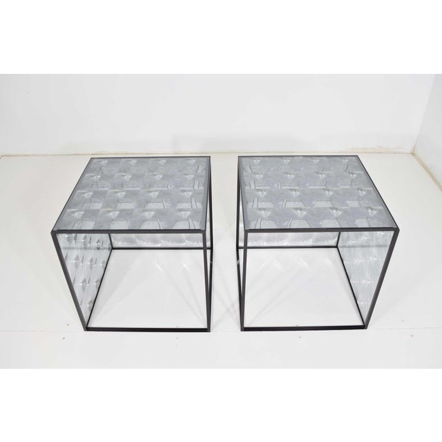 Designed by Patrica Urquoiola for B & B Italia, the lens side tables are the result of the study of transparent surfaces...