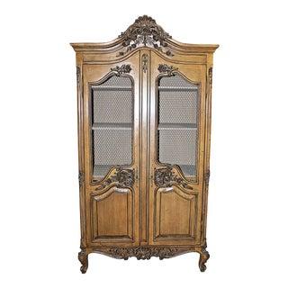 1970s Louis XV Rococo Armoire For Sale