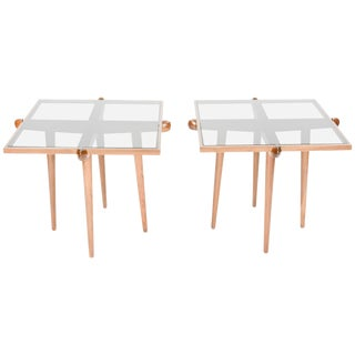 1960s Italian Mid-Century Modern Walnut Side Tables - a Pair For Sale