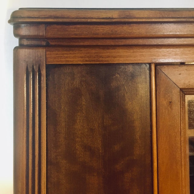 """Art Deco Exotic Woods 35"""" China Cabinet/Bookcase For Sale - Image 11 of 13"""