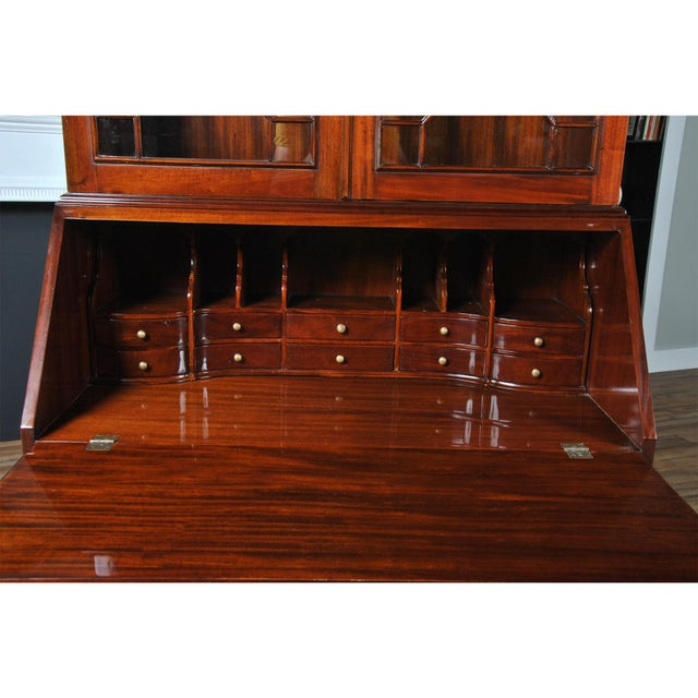 2010s Traditional Mahogany Secretary Desk For Sale - Image 5 of 8