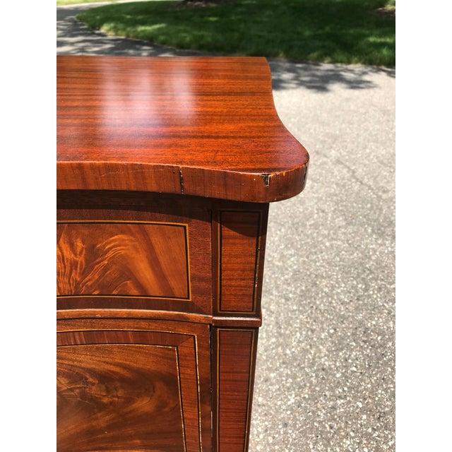 John Widdicomb Burled Walnut Bow Front Dresser by John Widdicomb For Sale - Image 4 of 13