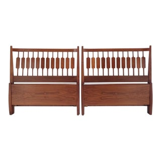 Kipp Stewart for Drexel Declaration Twin Beds ~ a Rare Pair For Sale