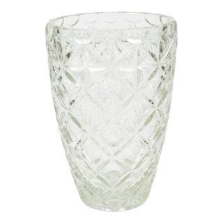 "1970s Large ""Karo"" Glass Vase, Huta Szkła Hortensja, Poland For Sale"