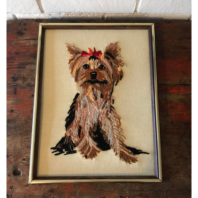 Handmade Framed Yorkie Dog - Image 2 of 10