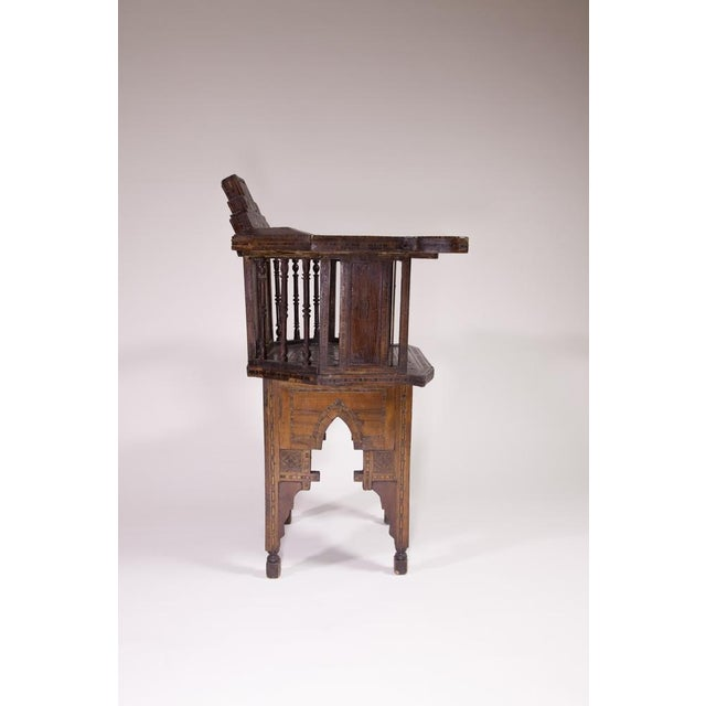 Moroccan Inlaid Chair - Image 4 of 4