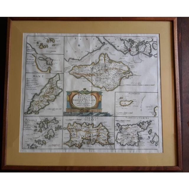 """17th Century Antique Map """"The Smaller Islands of Great Britain"""" by Rob Morden For Sale - Image 5 of 5"""