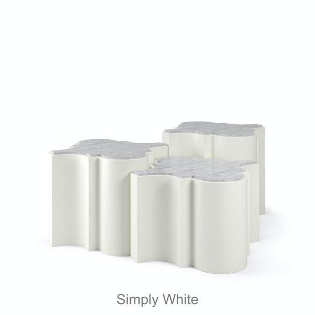 Sofia Nesting Tables, Set of 3 - Newburyport Blue For Sale - Image 4 of 6