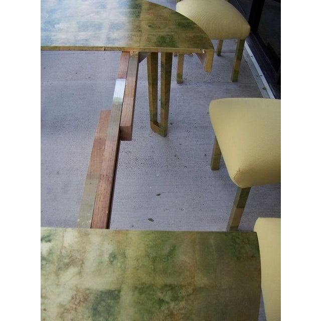 A James Mont Camouflage Gold Leaf Dining Room Set - Image 10 of 10
