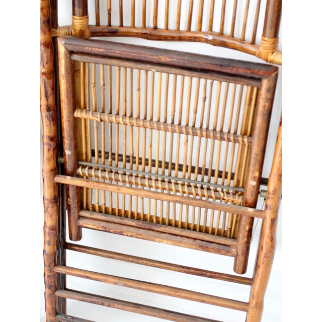 Vintage Bamboo Folding Chairs - a Pair For Sale - Image 10 of 10