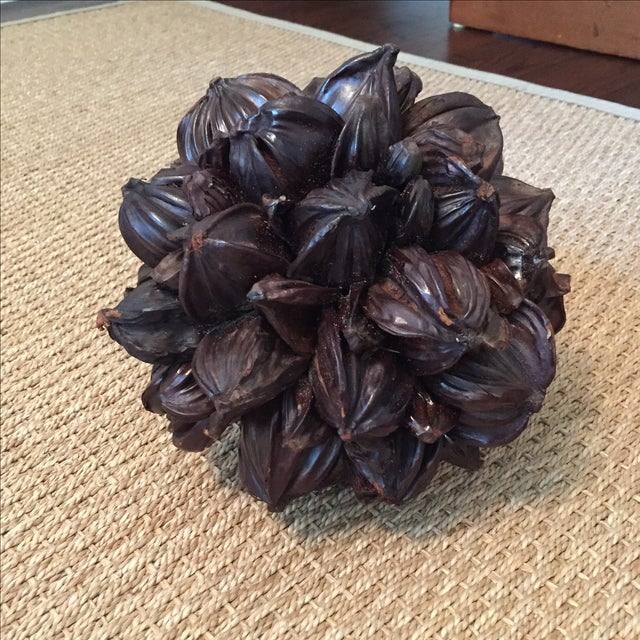 Seed Pod Sphere Decorative Object - Image 3 of 4