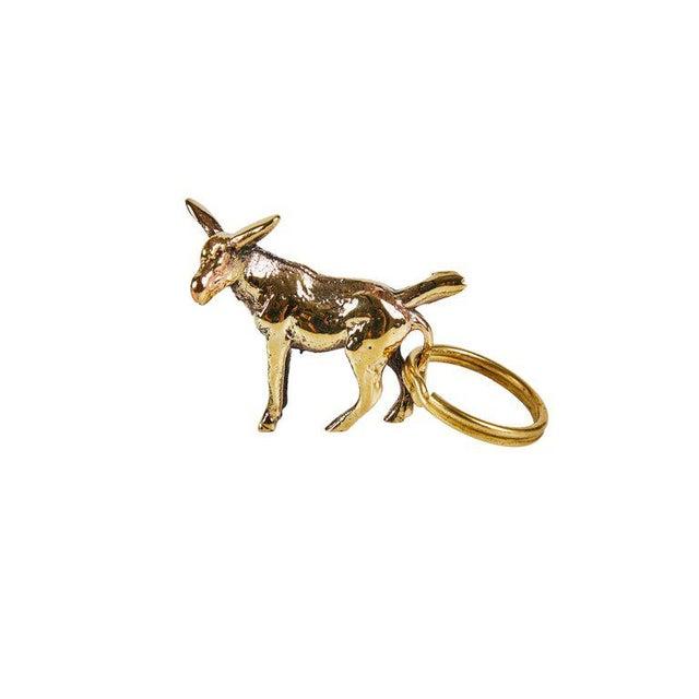 Metal Carl Auböck Model #5663 'Shell' Brass Figurine Keyring For Sale - Image 7 of 10