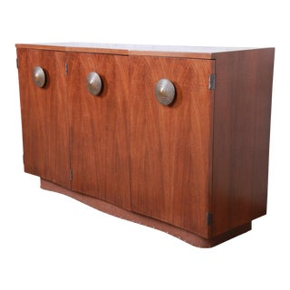 Gilbert Rohde for Herman Miller Paldao Group Sideboard Credenza or Bar Cabinet, Newly Restored For Sale