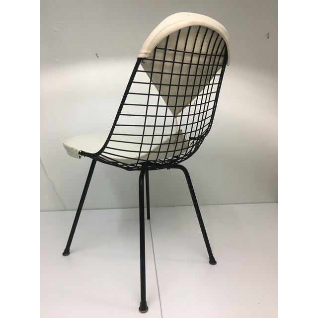 Herman Miller Vintage White on Black D K R Bikini Chair by Charles Eames for Herman Miller For Sale - Image 4 of 13