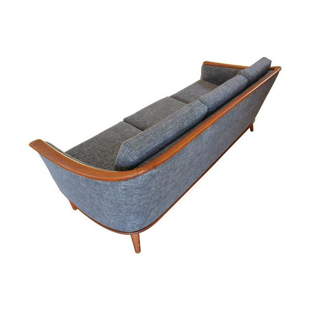 Textile Mid-Century Modern Sofa With New Foam & Upholstery, 1960s For Sale - Image 7 of 11