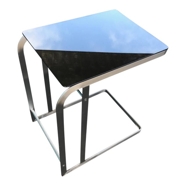 HD Buttercup Steel & Glass Side Table For Sale