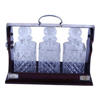 Art Deco Tantalus Decanter Set - 4 Pc. For Sale