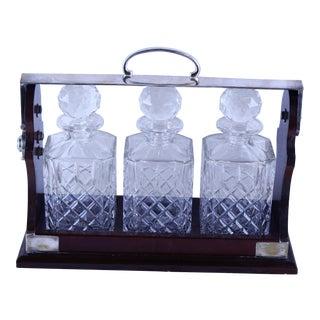Art Deco Tantalus Decanter Set - 4 Pc. For Sale