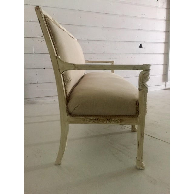 Antique French Neoclassical Setee - Image 6 of 8